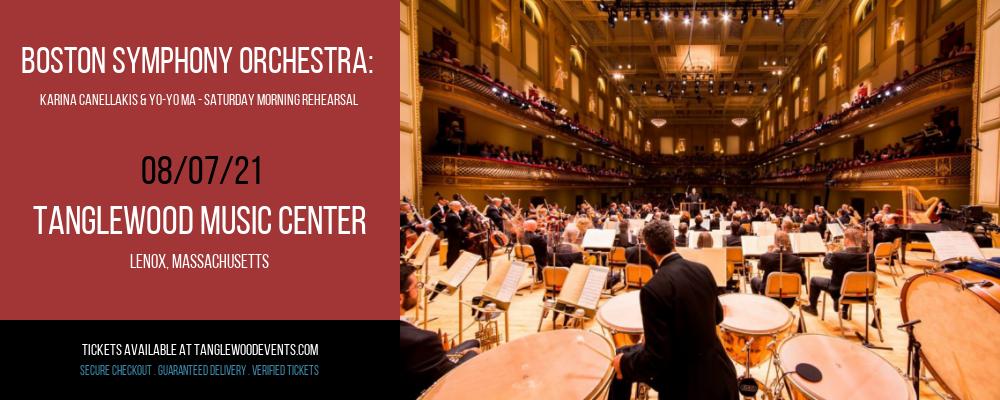 Boston Symphony Orchestra: Karina Canellakis & Yo-Yo Ma - Saturday Morning Rehearsal at Tanglewood Music Center
