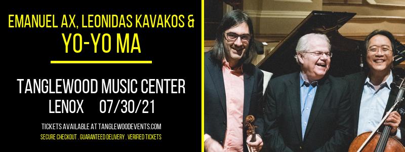 Emanuel Ax, Leonidas Kavakos & Yo-Yo Ma at Tanglewood Music Center
